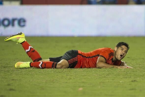 Las selecciones de México y Chile se enfrentaron en el Levi´s Stadium de...