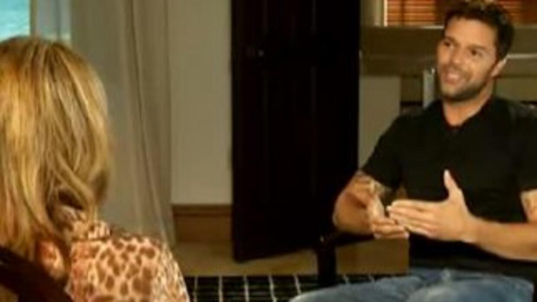 Ricky Martin recibió a María Elena Salinas, con quien habló largo y tend...