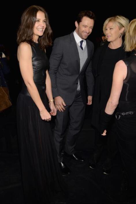 También echó unas risas con el guapísimo Hugh Jackman.