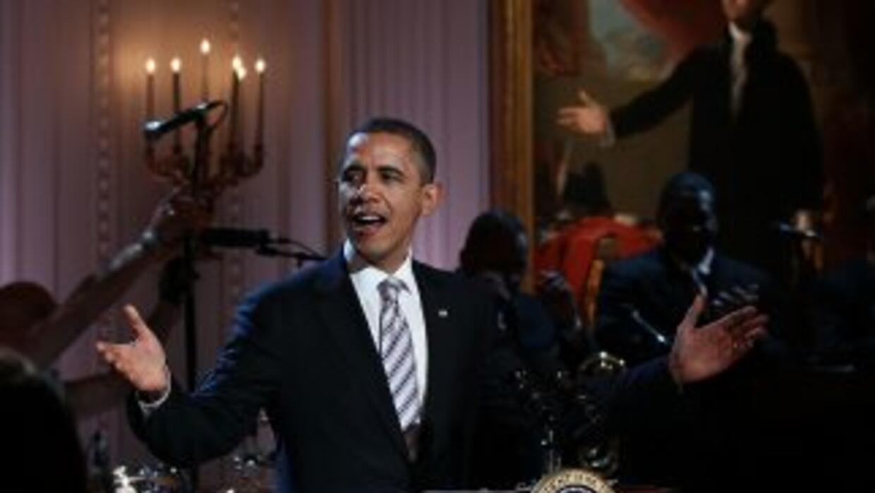 Barack Obama interpretó algunas estrofas de 'Sweet Home Chicago' durante...