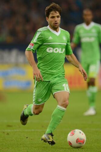 Otro brasileño que aparece en nuestro equipo es Diego del Wolfsburg.