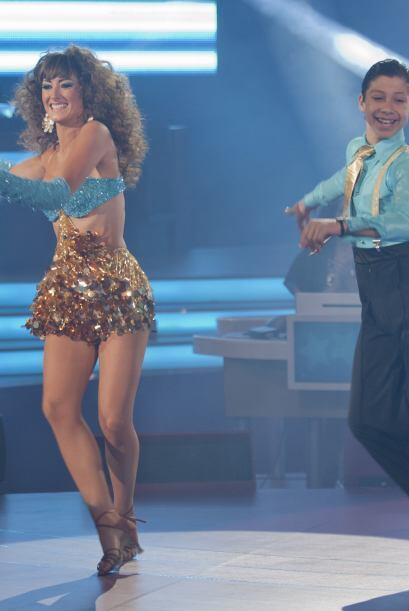 Max y Raquel sorprendieron al público por sus excelentes pasos de baile.