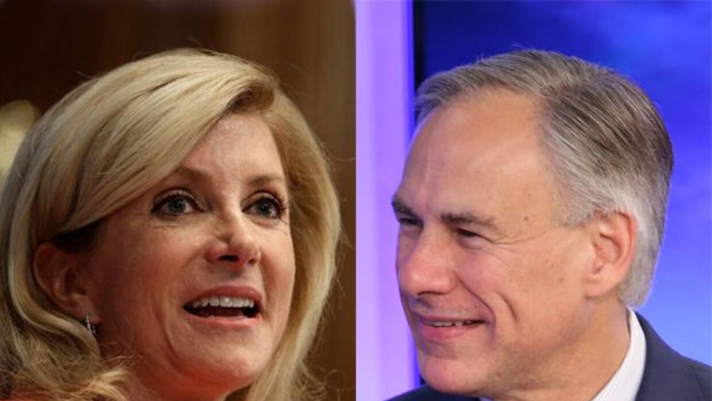 Ambos son los candidatos rumbo a la gubernatura texana, la primera por e...
