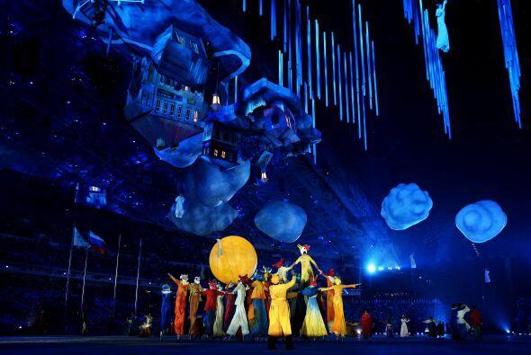 Una representación de la aldea de Marc Chagall, en forma de mundo...