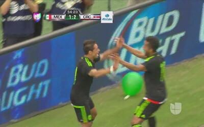 Gran remate de Javier 'Chicharito' Hernández que empata ante Costa Rica