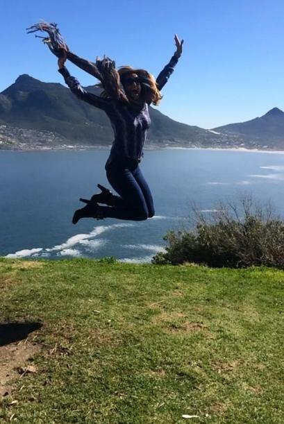 Lili Estefan no se quiso quedar atrás y se fue a Sudáfrica.