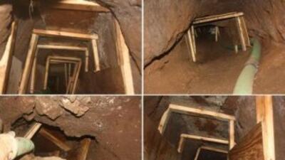 El túnel, en la frontera con Arizona, se originaba en el lado mexicano y...