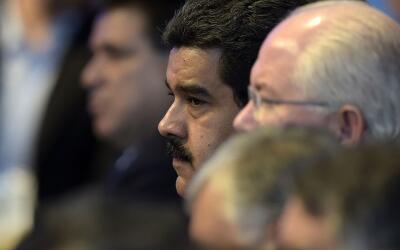 Nicolás Maduro, presidente de Venezuela, durante la conferencia d...