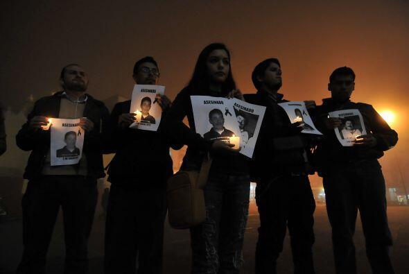 En Veracruz, Espinosa participó en las protestas por el homicidio de per...