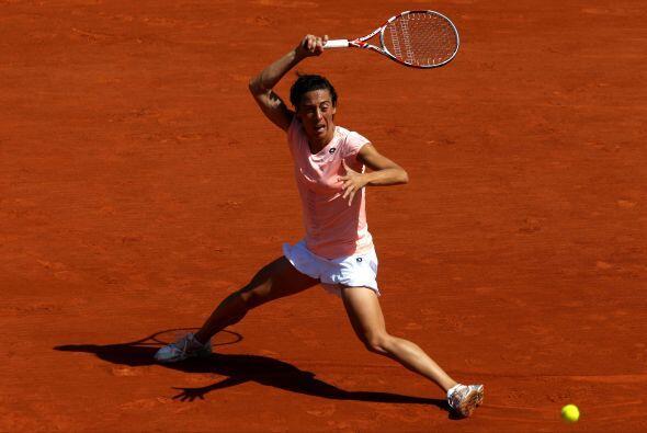 Por su parte, la campeona defensora, la italiana Francesca Schiavone, no...