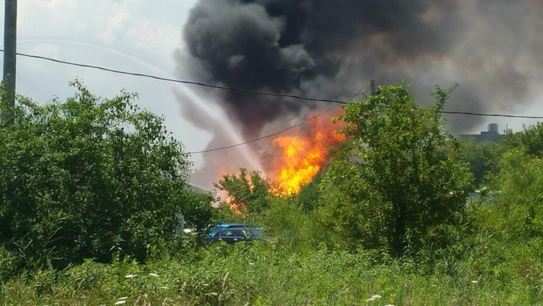 Incendio en una planta de gas propano en Gurnee, Illinois