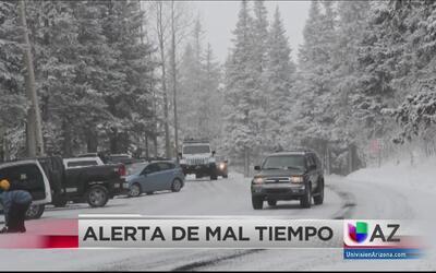 Cierre de caminos y calles al norte del estado debido al mal tiempo