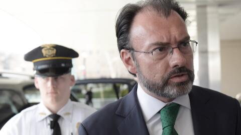 Luis Videgaray durante su visita a Washington DC