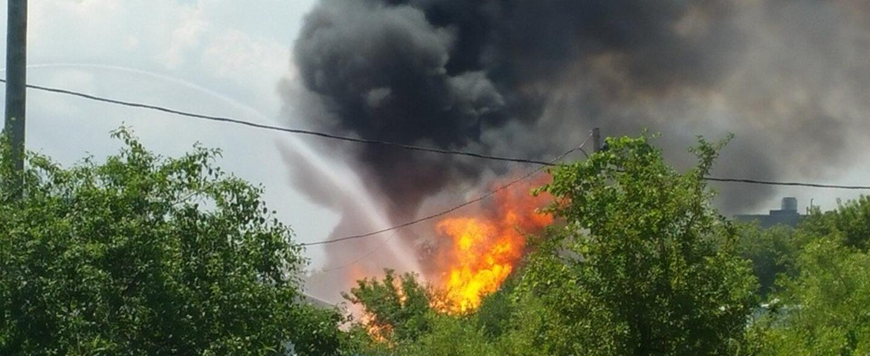 Incendio en planta de gas propano