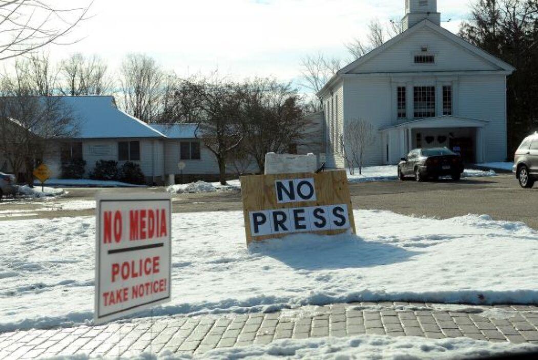 Algunos medios de prensa se abstuvieron de ir a Newtown el sábado. Un re...
