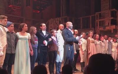 Protagonista de musical Hamilton aprovechó presencia del vicepresidente...