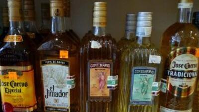 Botellas de tequila.