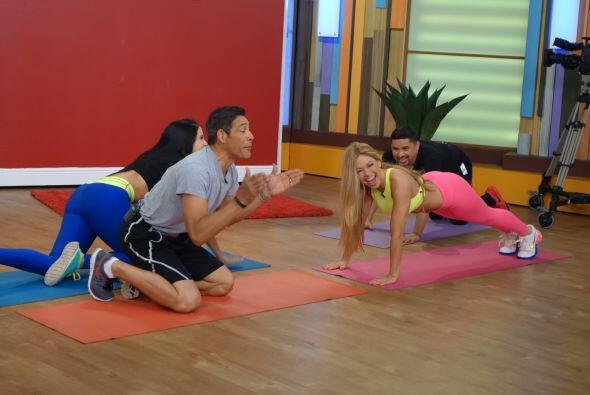 Claudia Molina dejó bien demostrado que ejercicio se puede hacer en cual...