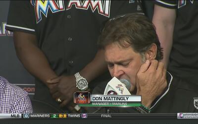 Don Mattingly rompió en llanto por la muerte de José Fernández