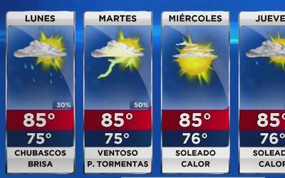 Actividad de lluvia para este lunes primero de mayo en Florida