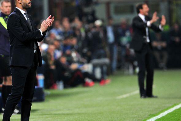 Los entrenadores Josep Guardiola y Massimiliano Allegri vivían su propio...
