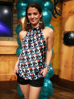 Giselle Saouda vino de Colombia a celebrar su reinado del 2005.