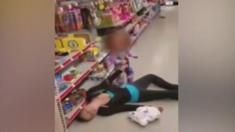 Mujer con sobredosis de droga fue captada en video