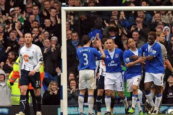 El Everton, ya sin Landon Donovan, le ganó 2-0 al Bolton.
