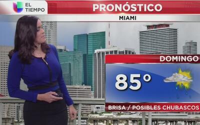 Lluvia y brisa para este domingo 30 de abril en Miami
