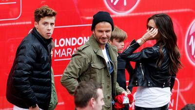 David Beckham junto a su familia