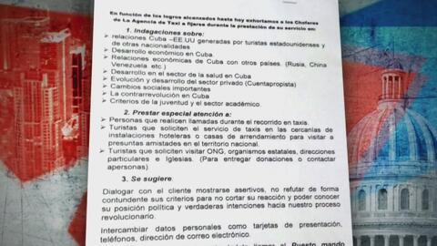 Gobierno cubano ordena a los taxistas que sean espías del Ministerio del...