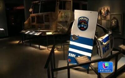 Escombros y fotos en un museo para recordar a las víctimas del 9/11