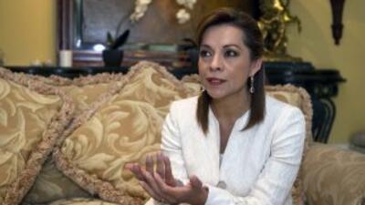 Josefina Vásquez Mota, candidata presidencial del oficialista Partido Ac...
