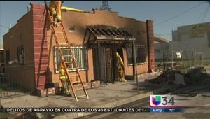 Investigan causa de incendio en Los Ángeles