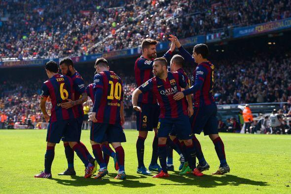 Marcador definitivo de 6-1 en favor del Barcelona, con el que cuatro mes...