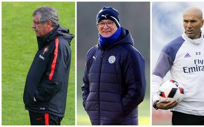 Santos, Ranieri y Zidane son los tres reyes del fútbol en 2016.