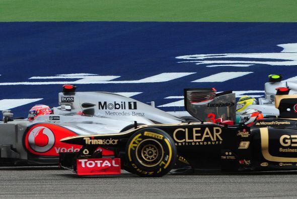 La escudería Lotus fue otra de las que brilló en este Gran Premio.