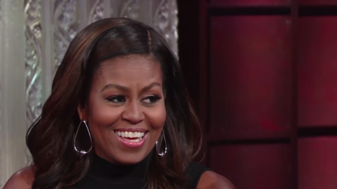 Michelle Obama en The Late Show with Stephen Colbert