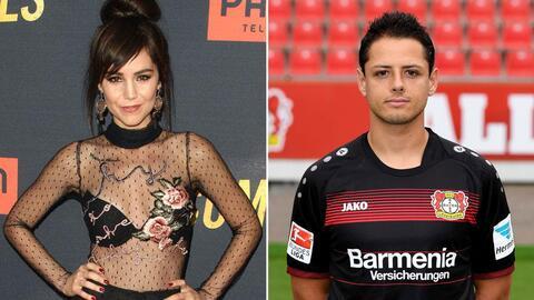 Camila Sodi y Javier 'Chicharito' Hernández.