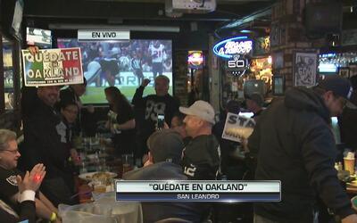 Crece campaña para prevenir que los Raiders se marchen de Oakland