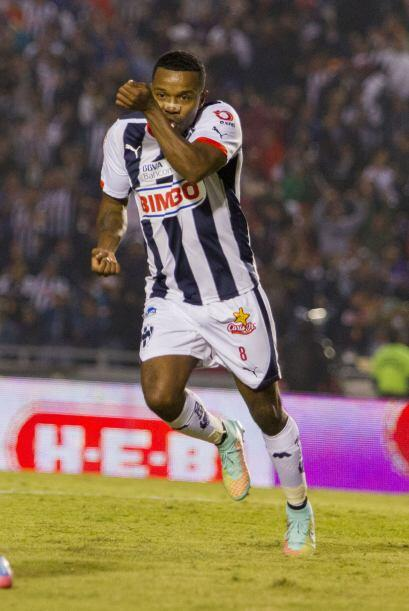 Pabón, atacante del Monterrey, se fue expulsado en la Jornada 16...