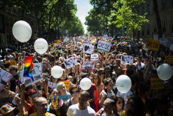 Así lució la participación de la marcha en Francia.