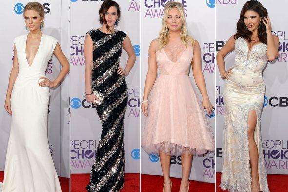 Los encajes y los sexys escotes inundaron los People's Choice Awards, qu...