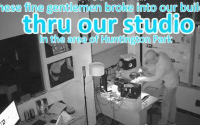 Imagen tomada de uno de los videos de vigilancia que captaron el robo en...
