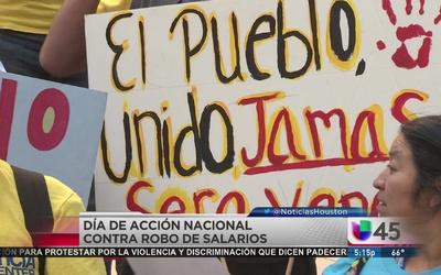 Protestan contra el robo de salario
