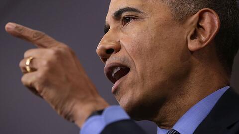 Presidente Barack Obama da su último discurso de seguridad nacion...