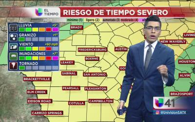 Tormentas amenazan al centro de Texas