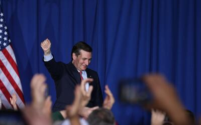 Ted Cruz se despide de sus seguidores en Indiana