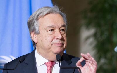 António Guterres, secretario General de la ONU, lamentó ta...