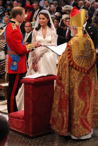 El momento más emotivo de la ceremonia fue sin duda el intercambi...